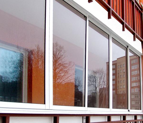 Алюминиевые балконные окна цена